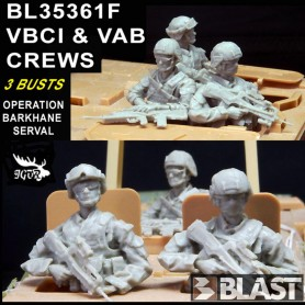 BL35361F - VAB AND VBCI CREWS - 3 BUSTES OP BARKHANE SERVAL