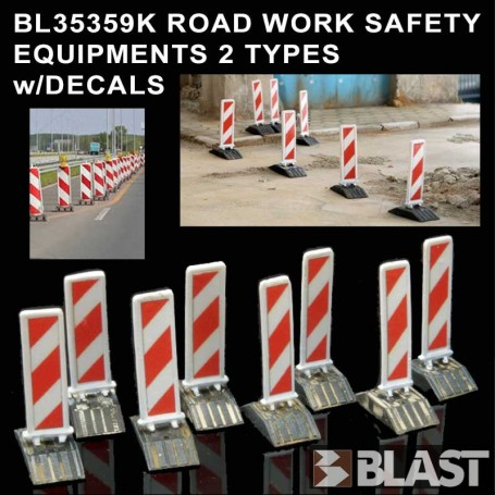 BL35359K ROAD WORK SAFETY EQUIPMENTS - 2 TYPES w/ DECALS