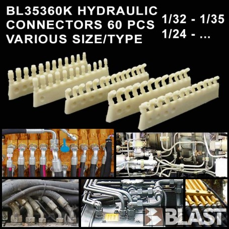 BL35360K - HYDRAULIC CONNECTORS 60 PCS VARIOUS SIZE/TYPE