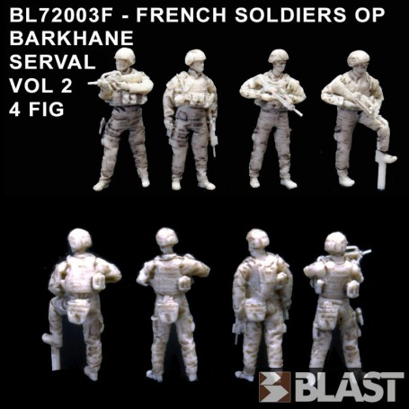 BL72003F - FRENCH SOLDIERS OP BARKHANE SERVAL VOL2 - 4FIG 1/72