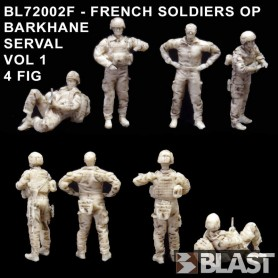BL72002F - FRENCH SOLDIERS OP BARKHANE SERVAL VOL1 - 4FIG 1/72