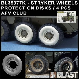 BL35377K - STRYKER WHEELS PROTECTION DISKS  4 PCS - AFV CLUB