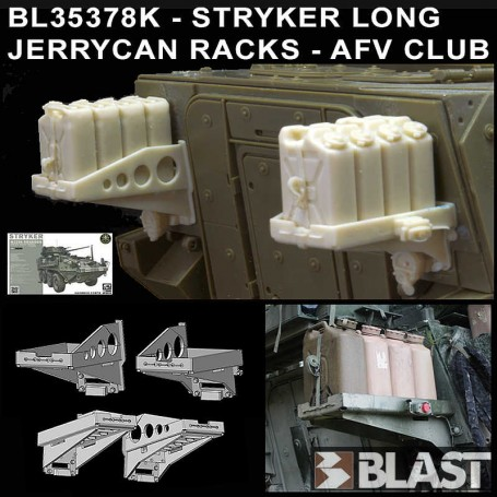 BL35378K - STRYKER LONG JERRYCAN RACKS - AFV CLUB