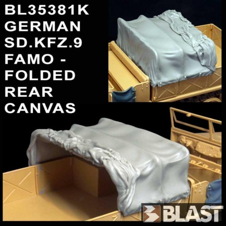 BL35381K - GERMAN SD.KFZ.9 FAMO - FOLDED REAR CANVAS