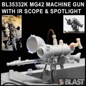 BL35332K - MG42 MACHINE GUN WITH IR SCOPE & SPOTLIGHT