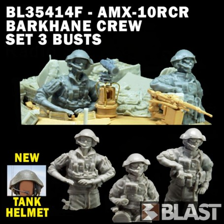 BL35414F - AMX-10RCR BARKHANE CREW SET 3 BUSTS