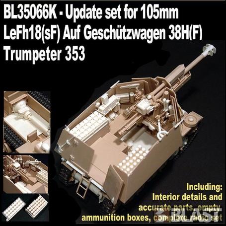 BL35066K - UPDATE SET FOR 10.5 LeFh18(sF) AUF GESCHUTZWAGEN 38H - LIMITED EDITION 2018