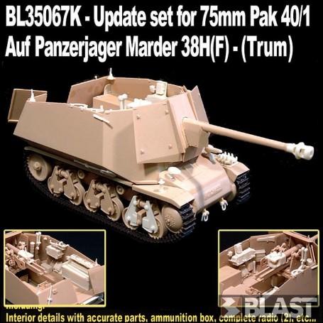 BL35067K - UPDATE SET 7.5 PAK 40/1 AUF PANZERJAGER MARDER 38H - LIMITED EDITION 2018