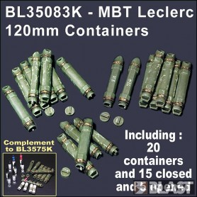 BL35083K - CONTAINER 120 MM AMMO - MBT LECLERC
