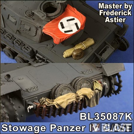 BL35087K - STOWAGE SET FOR PANZER IV C/D/E - TRISTAR/DML