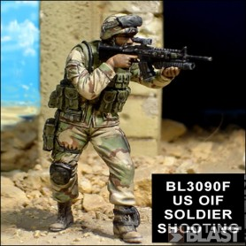 BL35090F - US OIF SOLDIER SHOOTING*