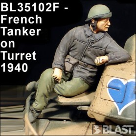BL35102F - FRENCH TANK COMMANDER ON TURRET 1940*
