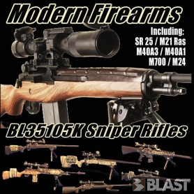 BL35105K - MODERN US SNIPER RIFLES - 6 RIFLES