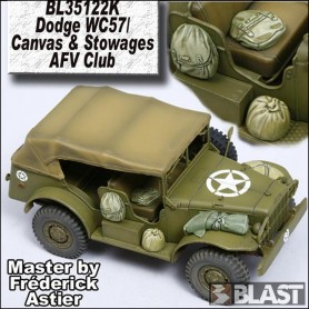 BL35122K - DODGE WC57/C CANVAS AND STOWAGE - AFV CLUB