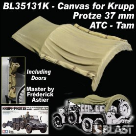 BL35131K - CANVAS FOR KRUPP PROTZE 37MM ATC / TAM