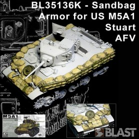 BL35136K - SANDBAG ARMOR SET FOR M5A1 STUART - AFV