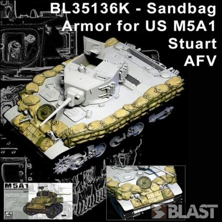 BL35136K - SANDBAG ARMOR SET FOR M5A1 STUART - AFV