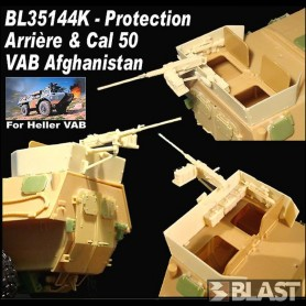 BL35144K - VAB PROTECTION BALISTIQUE ARRIERE + CAL 50 - AFGHANISTAN