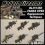 BL35145K - 6 FAMAS AVEC ACCESSOIRES TACTIQUES - AFGHANISTAN