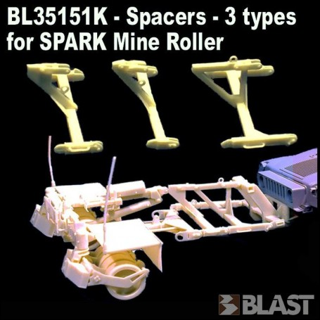 BL35151K - SPACERS - 3 TYPES - FOR  SPARK MINE ROLLER BL35150K