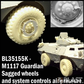 BL35155K - US M1117 GUARDIAN SAGGED WHEELS WITH  CONTROL AIR PRESSURE