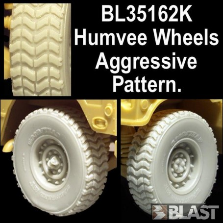 BL35162K - US HUMVEE SAGGED AGGRESSIVE PATTERN - 4 DIFFERENT WHEELS