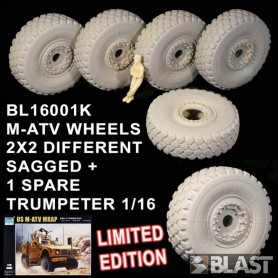BL16001K - M-ATV WHEELS 2X2 DIFFERENT SAGGED 1 SPARE - LIMITED EDITION