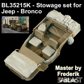 BL35215K - STOWAGE SET FOR JEEP - BRONCO