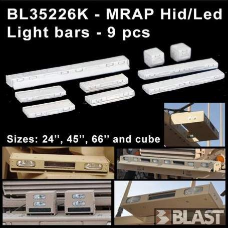 BL35226K - MRAP HID/LED LIGHT BARS - 9 PCS