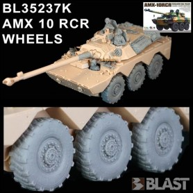 BL35237K - AMX 10 RC WHEELS - 2x3 DIFFERENT SAGGED WHEELS + RETOOL RIM - TM