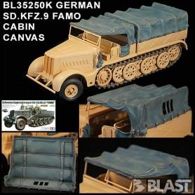 BL35250K - GERMAN SD.KFZ.9 FAMO - CABIN CANVAS