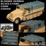 BL35250K - GERMAN SD.KFZ.9 FAMO - CABIN CANVAS