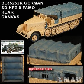 BL35252K - GERMAN SD.KFZ.9 FAMO - REAR CANVAS
