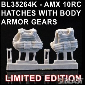 BL35264K - AMX 10RC HATCHES WITH BODY ARMOR GEARS