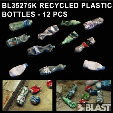 BL35275K - RECYCLED PLASTIC BOTTLES - 12 PCS
