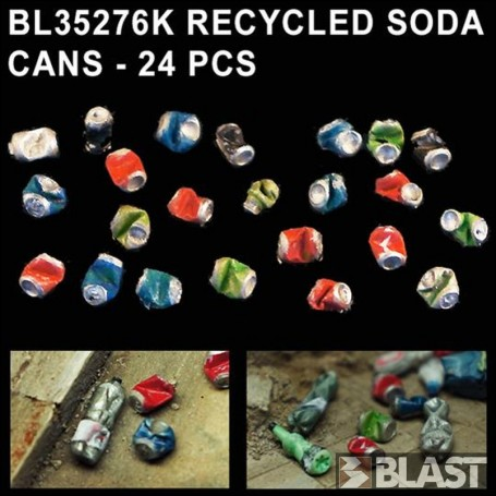 BL35276K - RECYCLED SODA CANS - 24 PCS