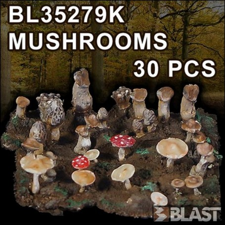 BL35279K - MUSHROOMS -  30 PCS