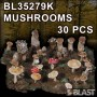BL35279K - MUSHROOMS -  30 PCS