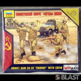 ZWE7412 - SOVIET SAM SA-18 GROUSE WITH CREW - 4 FIG 1/72