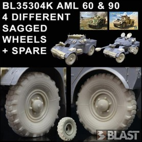 BL35304K - AML 60 & 90 4 DIFFERENT SAGGED WHEELS + 1 SPARE