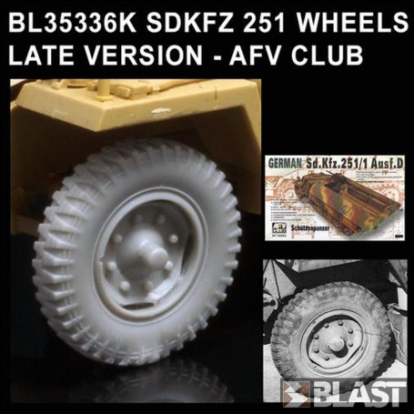 BL35336K - SDKFZ 251 WHEELS LATE VERSION - AFV CLUB