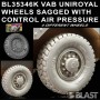 BL35346K - VAB UNIROYAL WHEELS SAGGED WITH CONTROL AIR PRESSURE