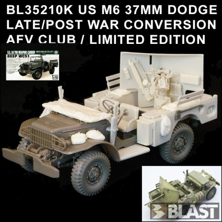 BL35210K - US M6 37MM DODGE LATE WAR CONVERSION - AFV CLUB / LIMITED EDITION
