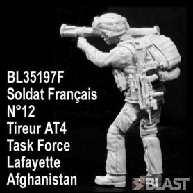 BL35197F - SOLDAT FRANCAIS N12 TIREUR AT4 - TASK FORCE LAFAYETTE - AFGHANISTAN*
