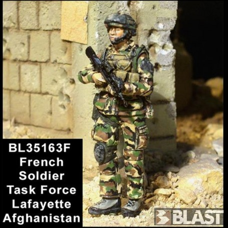 BL35163F - FRENCH SOLDIER N1 TASK FORCE LAFAYETTE - AFGHANISTAN*