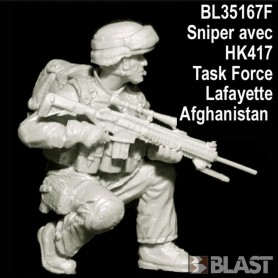 BL35167F - FRENCH SOLDIER N4 SNIPER HK417 TASK FORCE LAFAYETTE - AFGHANISTAN
