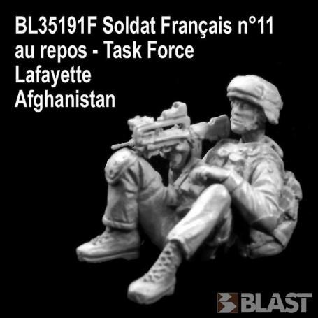 BL35191F - SOLDAT FRANCAIS N11 AU REPOS- TASK FORCE LAFAYETTE - AFGHANISTAN*