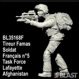 BL35168F - SOLDAT FRANCAIS N5 TIREUR FAMAS TASK FORCE LAFAYETTE - AFGHANISTAN*