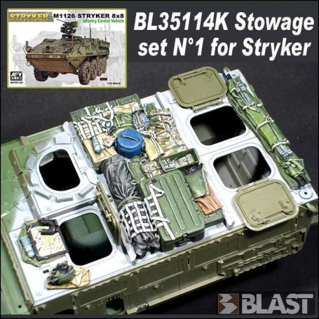 BL35114K - STOWAGE SET N1 FOR STRYKER - AFV CLUB