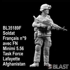 BL35189F - SOLDAT FRANCAIS N9 AVEC MINIMI- TASK FORCE LAFAYETTE - AFGHANISTAN